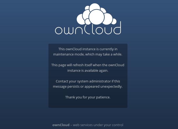 Upgrading ownCloud on Ubuntu - Ryan McCoskrie